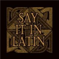 Say It In Latin
