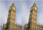 Leaning Big Ben illusion