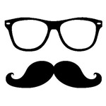 Hipster Mustache and Glasses