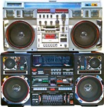 Two Boomboxes