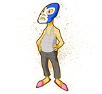 Luchador in Pink Slippers