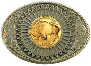Buffalo gold oval 2