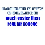 Community College much easier then regular college