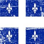 Vintage Quebec Province Flag