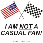 AMERICAN & CHECKERED FLAG<br />NOT A CASUAL FAN