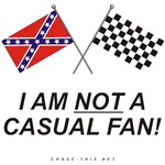 REBEL & CHECKERED FLAG<br />NOT A CASUAL FAN