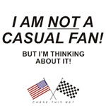 AMERICAN & CHECKERED FLAG<br />NOT CASUAL FAN But-