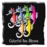 Colorful Sea Horses