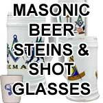 Masonic Ceramic Beer Steins