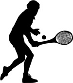 Tennis Backhand Silhouette