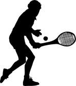 Tennis Backhand Silhouette
