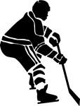Hockey Defender Silhouette