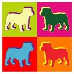 Bulldog Silhouette Pop Art