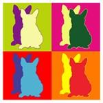 French Bulldog Silhouette Pop Art