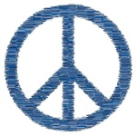 Blue Peace Symbol Gifts