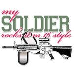 My Soldier rocks it M 16 Style