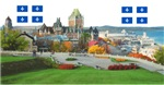 Old Quebec Pano with two Flags