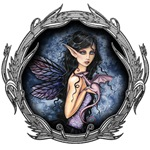 Amethyst Dragon Gothic Fairy Fantasy Art