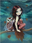 Autumn Owl and Fairy