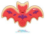 Kawaii Bat Sugar Cookie