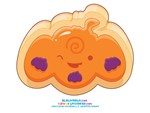 Kawaii Pumpkin Sugar Cookie