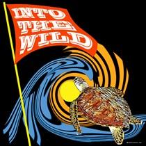 WILD SEA TURTLE DESIGN - WOMEN'S  DARK T-SHIRTS