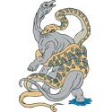 Dinosaur & Giant Snake