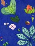 small Botanical (blue)