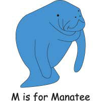M is for Manatee