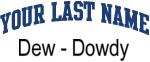 Blue Surname Design Dew - Dowdy