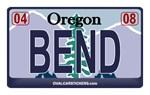 Oregon License Plate - BEND