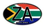 South Africa Colors Oval