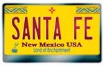 New Mexico License Plate [SANTA FE]