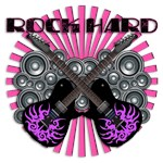 ROCK HARD-GUITAR-PINK