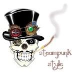 Steampunk Style-Top hat skull