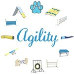 Dog Agility apparel, stickers, mugs and more