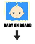 BABY ON BOARD (BLUE BACKGROUND)