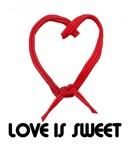 LOVE IS SWEAT (HEART SHAPED  LICORICE)