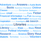 Blue Library Tag Cloud