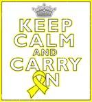 Ewing Sarcoma Keep Calm Carry On Shirts