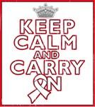 Bone Cancer Keep Calm Carry On Shirts