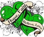 TBI Hope Faith Dual Hearts Shirts