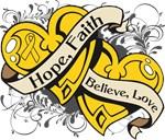 Neuroblastoma Hope Faith Dual Hearts Shirts