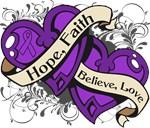 Lupus Hope Faith Dual Hearts Shirts