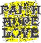 Testicular Cancer Faith Hope Love Shirts