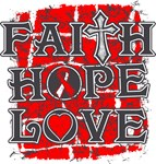 Aplastic Anemia Faith Hope Love Shirts