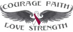Throat Cancer Courage Wings Shirts