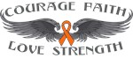 Skin Cancer Courage Wings Shirts
