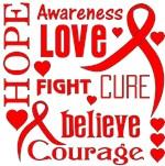 Heart Disease Hope Words Shirts