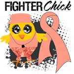 Endometrial Cancer Fighter Chick Shirts